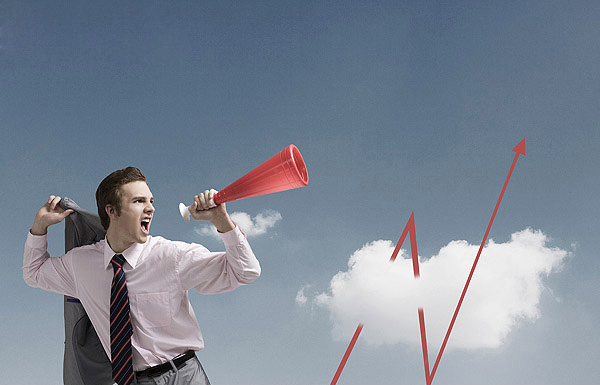 Twitter tools (Image: Man screaming through megaphone)