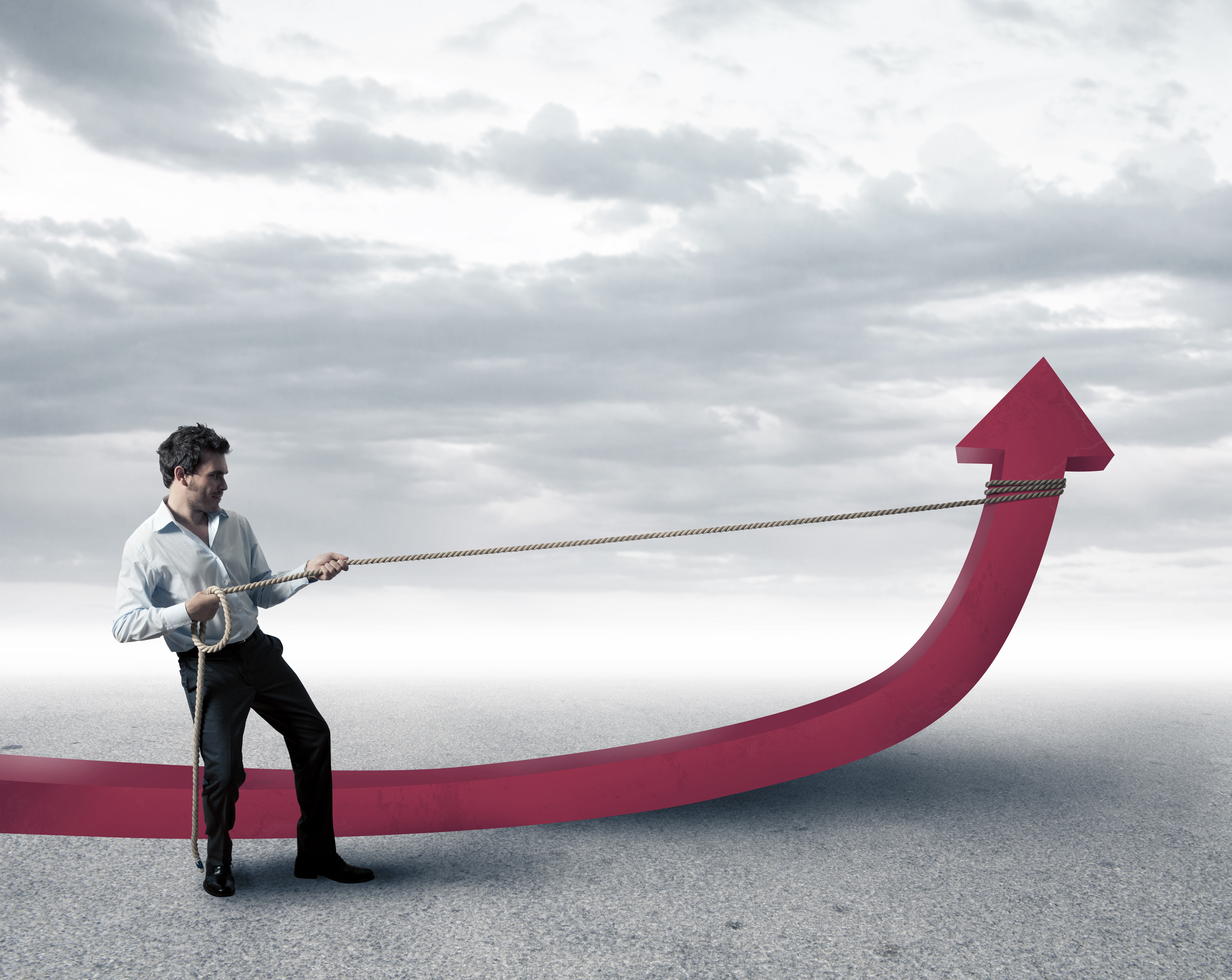 referral management (image: man lassoing an arrow pointing up)
