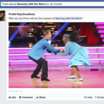 "Facebook (image: Facebook of"" Dancing with the Stars"" contestants)"