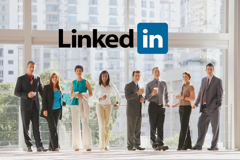 social media marketing (image: Linkedin logo with image of group of people)
