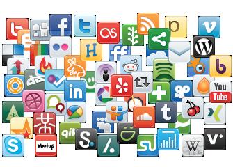 social media (graphic : social media network icons)